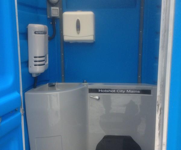 Mains Connect Portable Toilet Unit