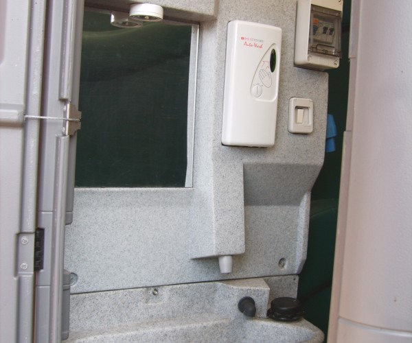 Hot Hand-Wash Chemical Toilets